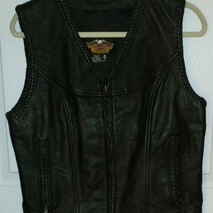 Leather Vest / Harley Davidson